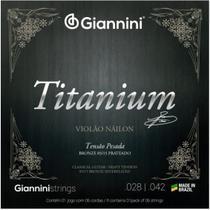 Encordoamento Violão Náilon Giannini Titanium  GENWTA Pesada -