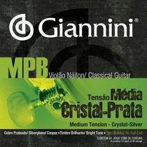 Encordoamento violão nailon mpb cristal/prata - Giannini