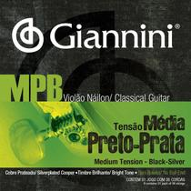 Encordoamento violão nailon mpb preto/prata - Giannini