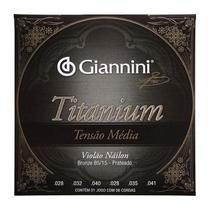 Encordoamento Violão Náilon Tensão Média Titanium Giannini GENWTM -