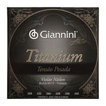 Encordoamento Violão Náilon Tensão Pesada Titanium Giannini GENWTA -