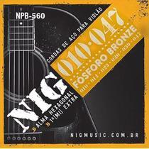 Encordoamento Violao Nig Cordas de Violão Aço Fosforo Bronze 010 NPB560 NIG -