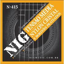 Encordoamento violao nig n415 nylon cristal/prateado media tensao -