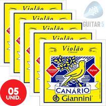 Encordoamento Violão Nylon Canário Com Bolinha GENWB - Kit Com 5 Unidades -