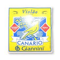 Encordoamento Violão Nylon Canário Tensão Média Cristal Com Bolinha Genwb - Giannini