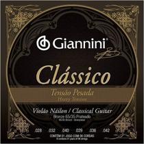 Encordoamento Violão Nylon Giannini GENWPA Tensão Pesada -