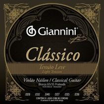 Encordoamento Violão Nylon Leve Giannini Clássico Genwpl -