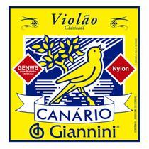 Encordoamento Violão Nylon Média Canário Cristal Bolinha Genwb - Giannini