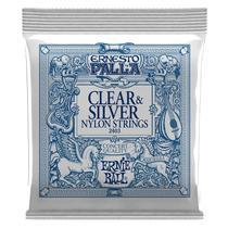 Encordoamento Violão Nylon Média Ernie Ball Ernesto Palla Clear And Silver P02403 -