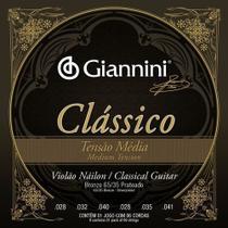 Encordoamento Violão Nylon Média Giannini Clássico Genwpm -
