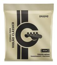 Encordoamento Violão Nylon Média Groove Cristal Gs5m - Solez