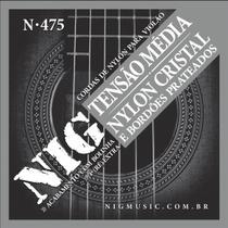 Encordoamento Violão Nylon Nig Cristal-Prata Tensão Media N475 -