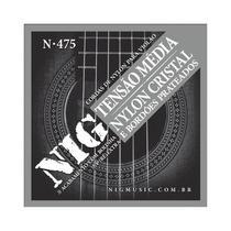 Encordoamento Violão Nylon Nig tensão Média N475 com Bolinha -