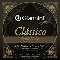 Encordoamento violão profissional nailon classico medio - Giannini