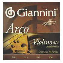 Encordoamento Violino 4/4 Aluminio Aço .009-.036 - Giannini -
