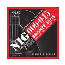 Encordoamentos NIG N490 P/ Violão Aço 9/45 - EC0198 - Nig strings