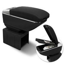 Encosto Apoio de Braço Universal 7 USB Courvin Preto com Cromado Retrátil - Prime