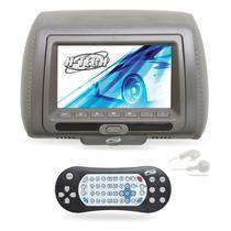 Encosto de Cabeça com DVD 7 polegadas + USB + SD Cinza - H-Tech