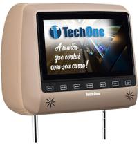 Encosto de Cabeca com Monitor TECH ONE SLIM com DVD Bege