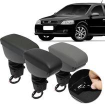Encosto Descanso Braço Apoio Astra Hatch Sedan 2003 a 2012 USB Couro Ecológico Encaixe Porta Copos - Nat