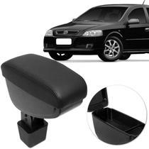 Encosto Descanso de Braço Apoio Astra Hatch Sedan 03 a 12 Preto Couro Ecológico Encaixe Porta Copos - Nat