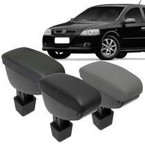 Encosto Descanso de Braço Apoio Astra Hatch Sedan 2003 a 2012 Couro Ecológico Encaixe Porta Copos - Nat