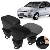 Encosto Descanso de Braço Apoio Fiesta Hatch Sedan Ecosport 2003 a 2010 Com USB Couro Ecológico - Nat