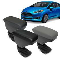 Encosto Descanso de Braço Apoio New Fiesta Hatch Sedan 2013 a 2017 Versão Nacional Couro Ecológico - Nat