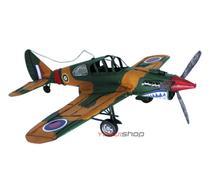 Enfeite aviao de metal miniatura da 2 segunda guerra mundial vintage retro -
