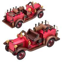 Enfeite Carro Antigo 30cm Vermelho Espressione -