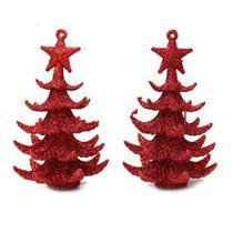 Enfeite de árvore de natal pinheiro 2 peças - niazitex -