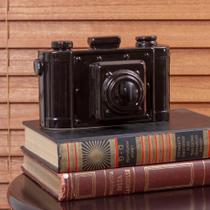 Enfeite de Cerâmica Câmera Preta 18cm - ETNA