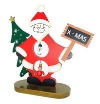 Enfeite de Natal Boneco Papai Noel de Madeira - Campineira