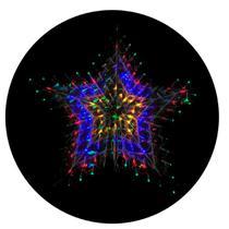 Enfeite de Natal Estrela 140 LEDs Coloridos 50X50CM 110v - Chibrali