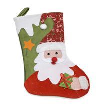 Enfeite de Natal Meia com Papai Noel 36cm - Snowland -