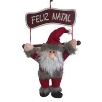 Enfeite de Porta Papai Noel com Placa Feliz Natal - Riomaster