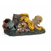 Enfeite de resina para aquario polvo na pedra  - un - Soma