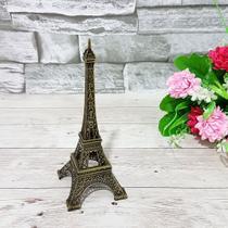 Enfeite decorativo metal torre eiffel 13cm - interponte -