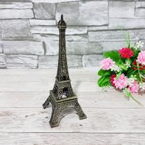 Enfeite decorativo metal torre eiffel 18cm - interponte -