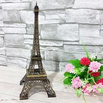 Enfeite decorativo metal torre eiffel 25cm - interponte -