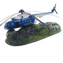 Enfeite Helicoptero Em Resina - Aquaria