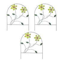 Enfeite Jardim Ferro Grade Casa Varanda Decora Planta Flor Verde Com 3 (JARD-65) - Braslu