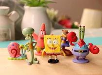 Enfeite Kit 6 Miniaturas Bob Esponja Patrick Lula Molusco - IMPT