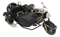 Enfeite moto sidecar motocicleta Decoração vintage retro sala bar -