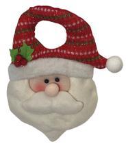 Enfeite Natal Cabeça Papai Noel 27.5cm Ref:1369A unid. - Natal Brasil