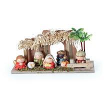 Enfeite Natal Decorativo Mini Presépio Infantil Colorido 1Pç - Cromus