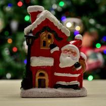 Enfeite Natalino Papai Noel de Led Vermelho 14cm - Etna
