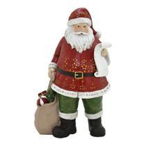 Enfeite Papai Noel Com Saco de Presente 24cm Espressione Christmas -