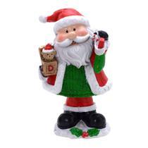 Enfeite Papai Noel Doce Natal Com Brinquedo 13cm Espressione Christmas -