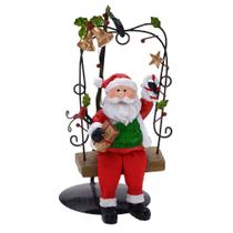 Enfeite Papai Noel No Balanco 19cm Espressione Christmas -